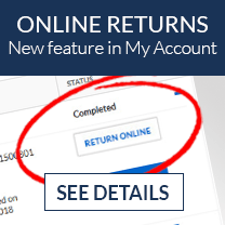 New online return feature for registered customers