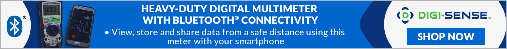 NEW Digi-Sense Heavy-Duty Industrial Digital Multimeter with Bluetooth Connectivity