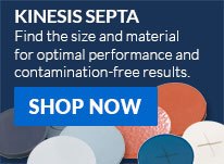 Shop Kinesis septa for vials available in over 40 size-material types