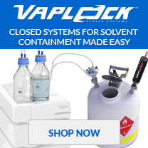 Vaplock closed systems for solvent containment made easy