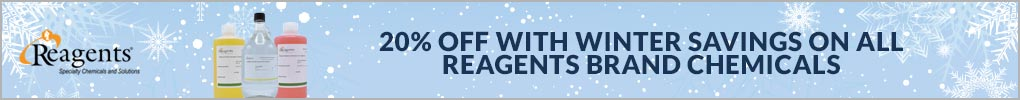 Save 20% on Reagents chemicals through January 31st