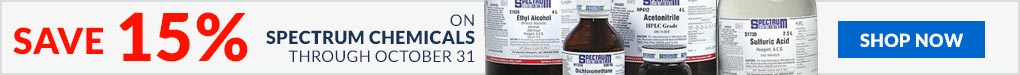 Save 15% on select Spectrum chemicals through October 31st