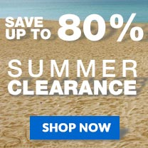 Save up to 80% of select summer clearance items!