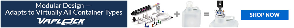 Vaplock modular design makes it easy to fit your solvent collection container