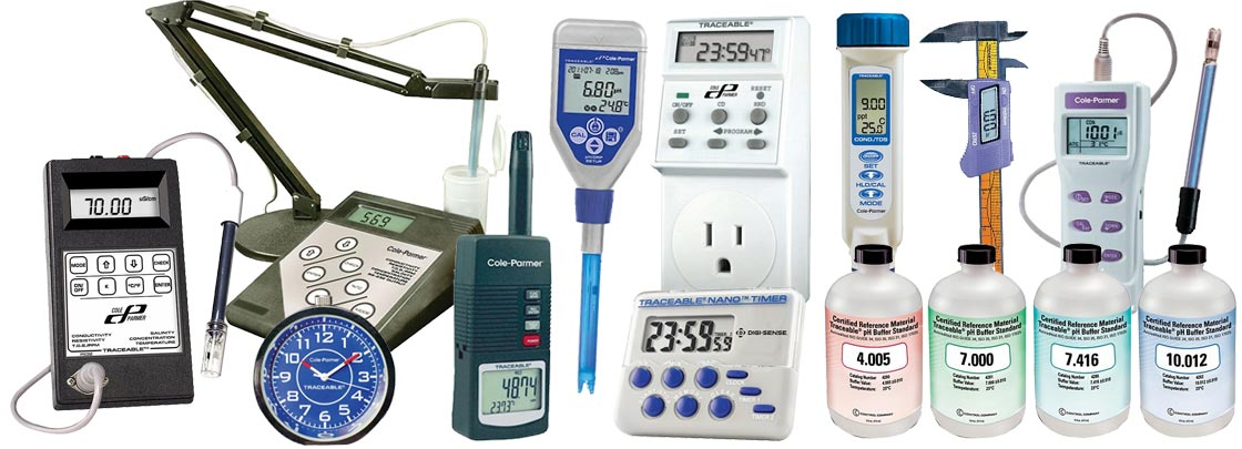 Cole-Parmer NIST-Traceable Calibrated Instruments & Lab Supplies