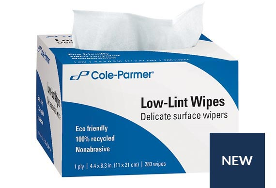 Cole-Parmer® Low-lint Wipes