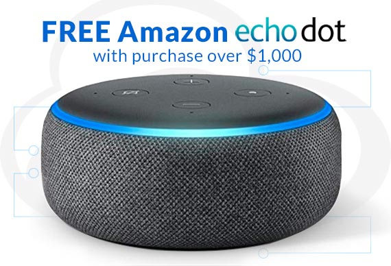 Get a FREE Amazon Echo Dot with purchase over $1,000 With Promotion Code: FREEDOT