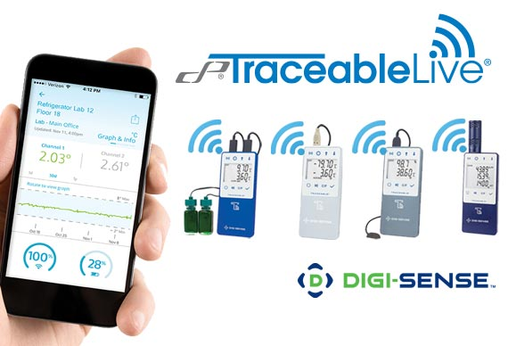 Digi-Sense Data Loggers with TraceableLIVE monitor a wide range of conditions remotely