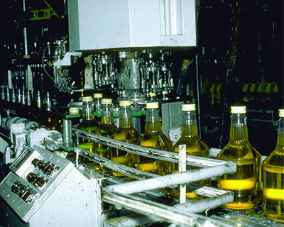 Bottles processing production line