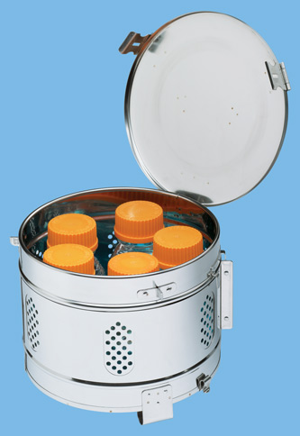 Vertical loading sterilizer basket