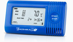 Traceable Temperature/Humidity Bluetooth Data Logger with remote monotiring compatibility