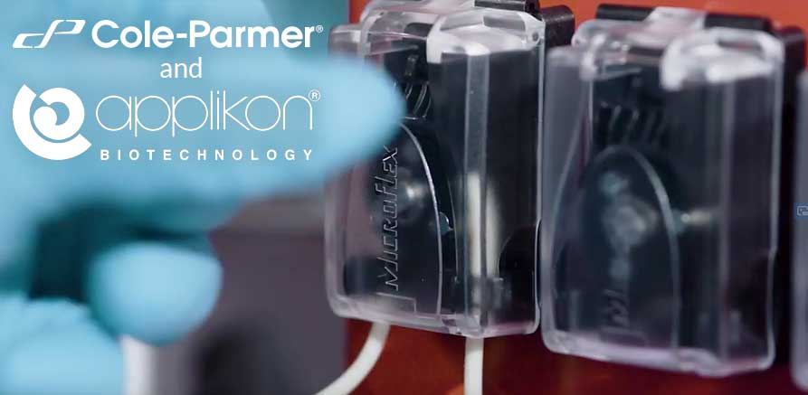 Applikon mini bioreactor using Cole-Parmer Miniflex pump