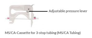 MS/CA Cassette for 3-stop tubing