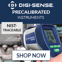 Digi-Sense precalibrated instruments with NIST-traceable standards with ISO17025 certificate from an A2LA accredited lab