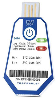 TraceableOne Single-Use USB Temperature Data Logger